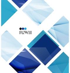 Bright blue geometric modern design template vector
