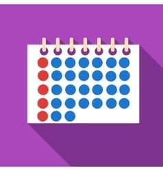 Calendar icon flat style vector