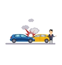 Car and Transportation Collision vector