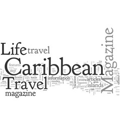 Caribbean travel and life magazine vector
