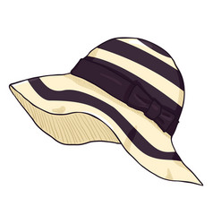 cartoon elegance women hat on white background vector image