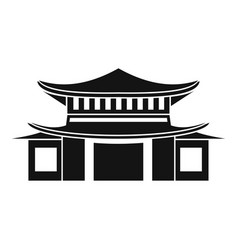 chinese icon simple style vector image
