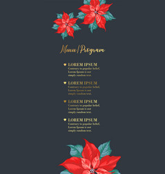 christmas invitation template with mistletoe vector image
