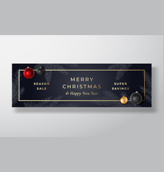 christmas sale abstract greeting or holiday vector image