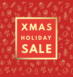 christmas sale creative minimal winter greeting vector image