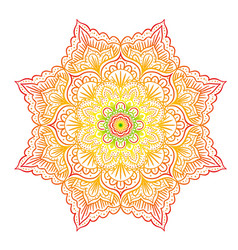 colorful mandala vector image