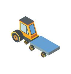 Construction machine transportation device belt vector