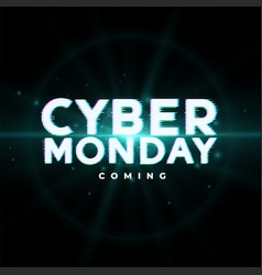 Cyber monday upcoming sale event background design vector
