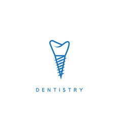dentistry icon concept with implant vector image