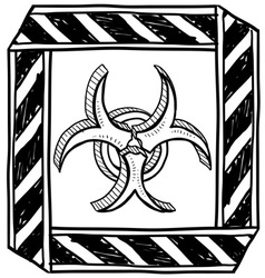 Doodle bio hazard vector