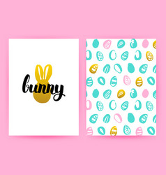 easter bunny hipster posters vector image