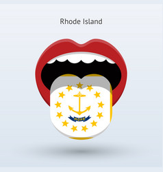 Electoral vote rhode island abstract mouth vector
