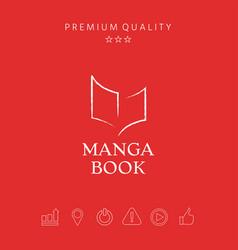 Elegant logo with book symbol like dry brush vector