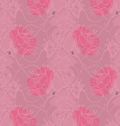 Fabric design flower pink shades vector