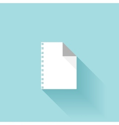 Flat paper sheet icon with shadow vector