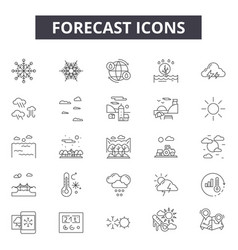 forecast line icons for web and mobile design vector image