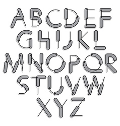 Funny constructive font rounded cartoon letters vector