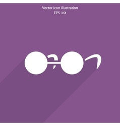glasses web icon vector image