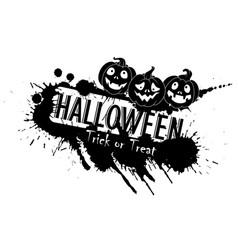 Grunge halloween jack o lanterns vector