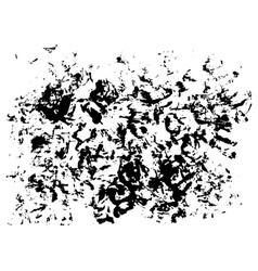 Grunge ink blot and spot texture on paper vector