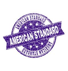 grunge textured american standard stamp seal vector image