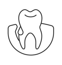 Gum bleeding linear icon vector
