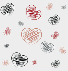 hand draw doodles background vector image