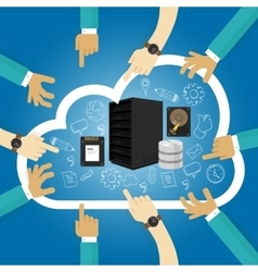 Iaas infrastructure as a service shared hosting vector