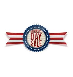 Independence day sale patriotic badge vector