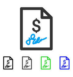 Invoice page flat icon vector