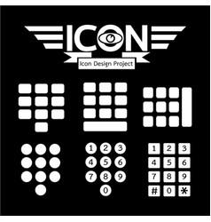 keypad icon vector image