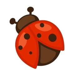 Ladybug Icon of bright small insect vector