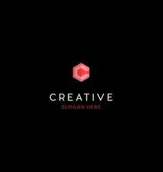 letter ccc hexagon creative business logo design vector image