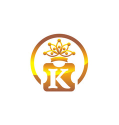 letter k crown vector image