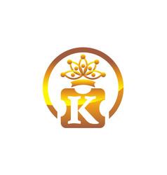 letter k crown vector image