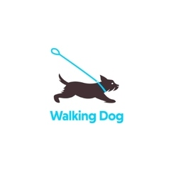 Logo design for dog walking vector image