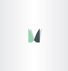 logotype letter m icon m sign symbol element vector image