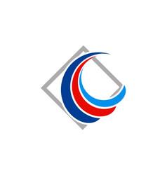 loop swirl company logo vector image