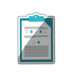 Medical checklist report vector