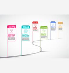 milestones company timeline infographic vector image