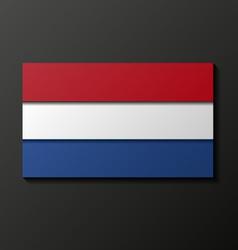 Modern style Netherland flag vector