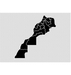 morocco map - high detailed black map with vector image