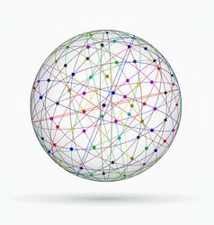 multicoloured sphere of global digital vector image