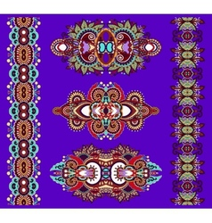 Ornamental of violet colour floral adornment vector