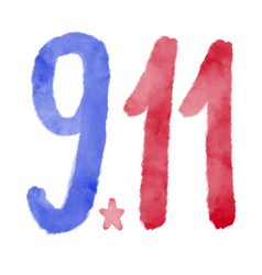 Patriot day usa never forget 911 poster vector
