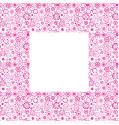pink frame with doodle circles vector image