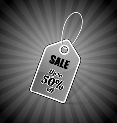 price tag with bargain discount text sale up vector image
