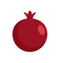 red fresh eco pomegranate icon flat style vector image