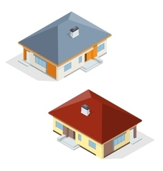 Residential house flat 3d isometric vector