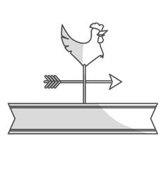 Rooster weather vane vector